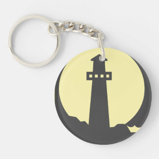 Lighthouse Silhouette Keychain