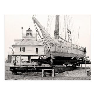 Lighthouse & Skipjack Postcard