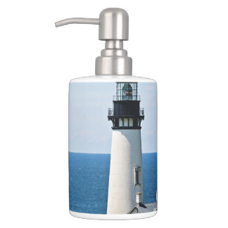 Lighthouse Soap Dispenser & Toothbrush Holder