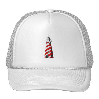 lighthouse spiral red white landing png mesh hat