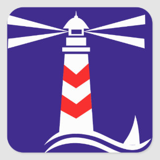 Lighthouse Square Sticker