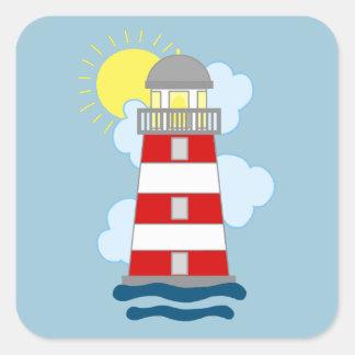 Lighthouse Square Sticker