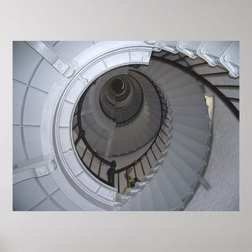 Lighthouse Stairwell Interior Daytona Beach Poster