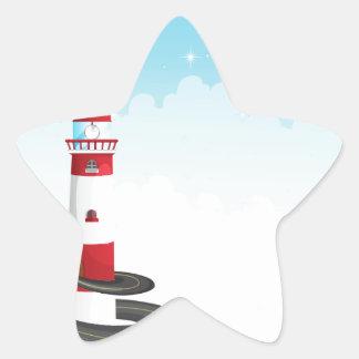 Lighthouse Star Sticker