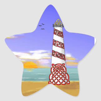 Lighthouse Star Sticker