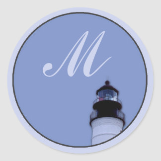 Lighthouse Round Stickers