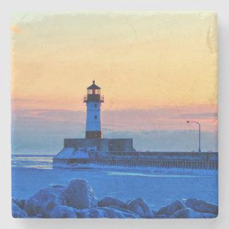 Lighthouse Stone Coaster