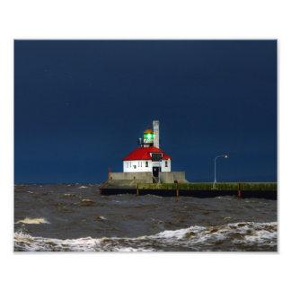 Lighthouse Storm Photo Print