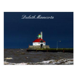 Lighthouse Storm Postcard