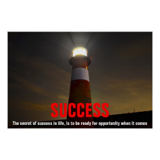 Lighthouse Success Quote Inspirational Poster