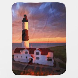 lighthouse sunrise blanket