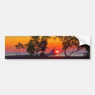 Lighthouse Sunrise Bumper Sticker