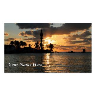 Lighthouse Sunrise Business Card Template