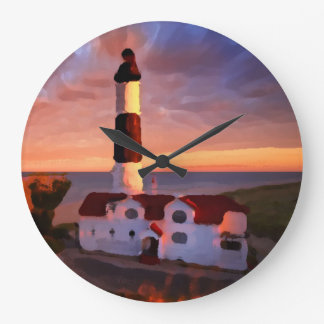 Lighthouse sunrise clock