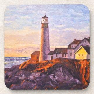 Lighthouse Sunrise Cork Coasters