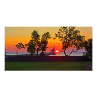 Lighthouse Sunrise Picture Card