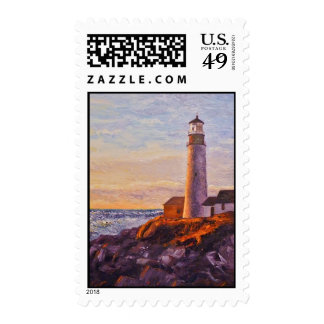 Lighthouse Sunrise Postage Stamps