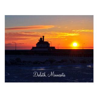 Lighthouse Sunrise Postcard