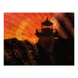 Lighthouse Sunrise Posters