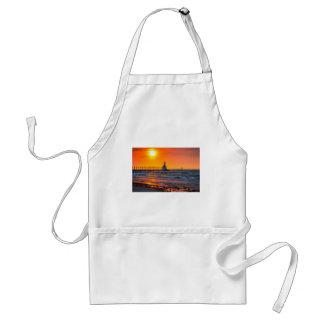 Lighthouse Sunset Adult Apron