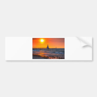 Lighthouse Sunset Bumper Sticker