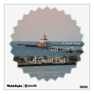 Lighthouse Sunset / Good Start Wall Sticker