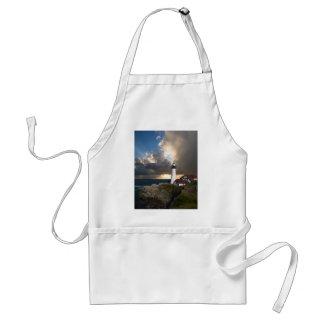 Lighthouse Sunset: Portsmouth, New England Adult Apron