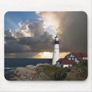 Lighthouse Sunset: Portsmouth, New England Mouse Pad