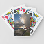 Lighthouse Sunset: Portsmouth, New England Bicycle Poker Deck