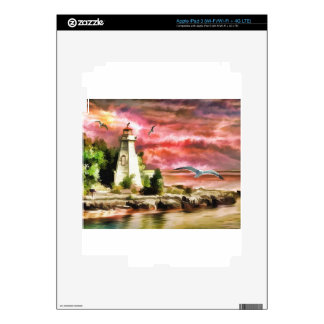 Lighthouse Sunset Skin For iPad 3