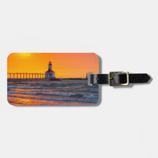 Lighthouse Sunset Tag For Luggage