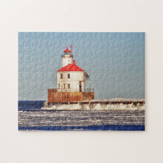 Lighthouse Superior Wisconsin Jigsaw Puzzle