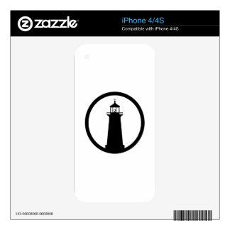lighthouse Symbol Decals For iPhone 4