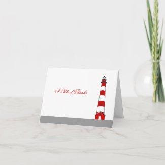 Lighthouse Thank You Card card