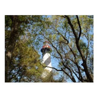 LIGHTHOUSE THROUGH THE TREES POSTCARDS