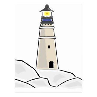 lighthouse tower design postcard