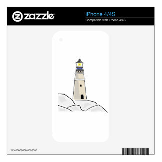 lighthouse tower design skin for iPhone 4S