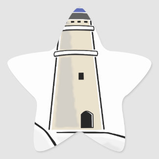 lighthouse tower design star sticker