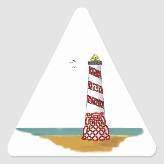 Lighthouse Triangle Sticker