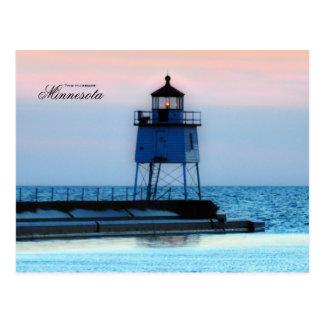 Lighthouse two Harbors Minnesota Postcard