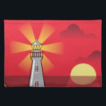 """Lighthouse Vector color Cloth Placemat<br><div class=""""desc"""">Lighthouse Vector color</div>"""