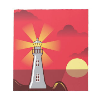 Lighthouse Vector color Notepad
