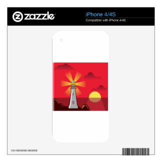 Lighthouse Vector color Skin For The iPhone 4