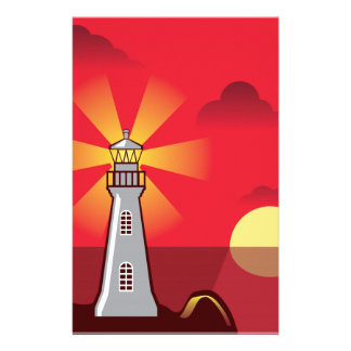 Lighthouse Vector color Stationery
