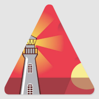 Lighthouse Vector color Triangle Sticker