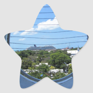 Lighthouse view of Mallory Square Star Sticker