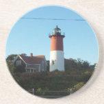 Lighthouse Views Beverage Coaster