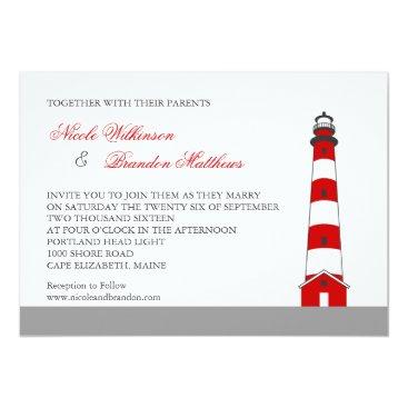 marlenedesigner Lighthouse Wedding Invitation