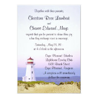 Lighthouse Wedding Invitations