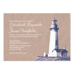 Lighthouse Wedding Invitations 5
